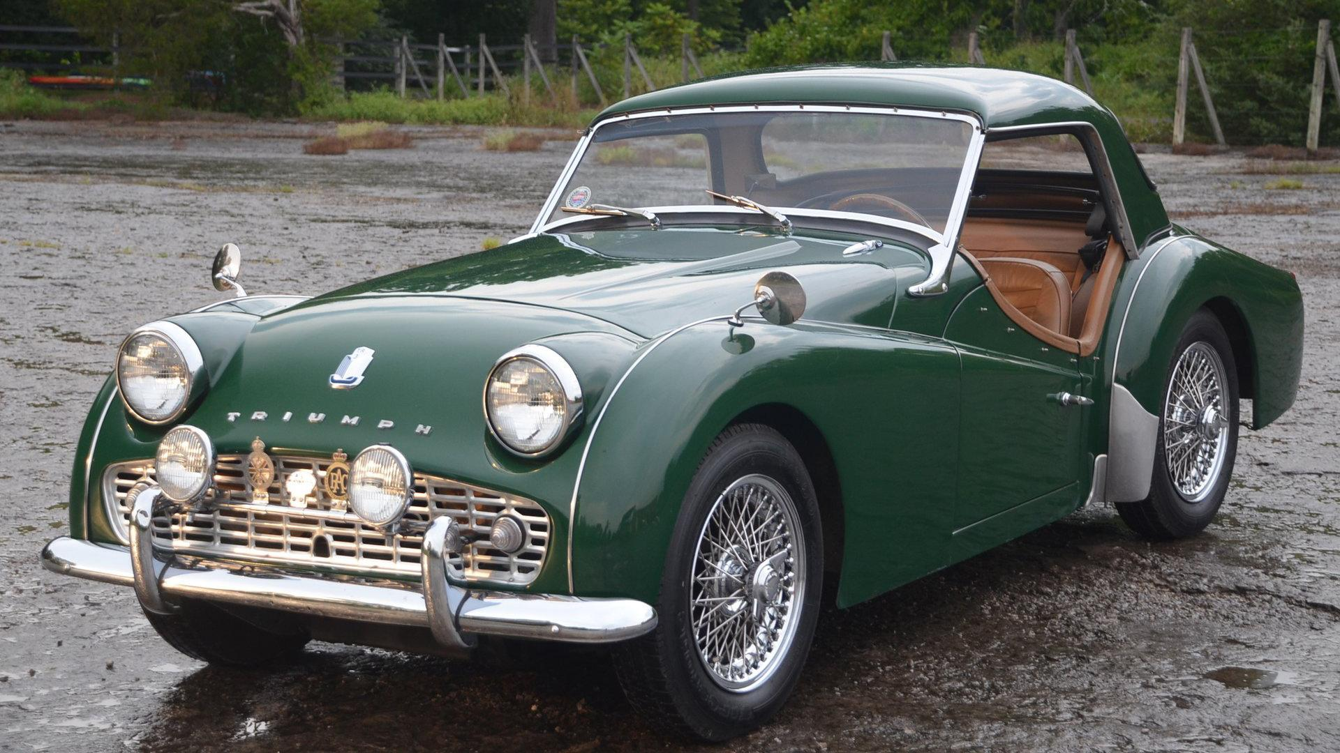 Votre voiture de collection anglaise Car triumph tr3 avec Bretagne Roadster